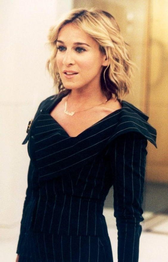 11 Times Carrie Bradshaw Made Curls Look Good | Byrdie Pertaining To Carrie Bradshaw Short Hairstyles (View 1 of 20)