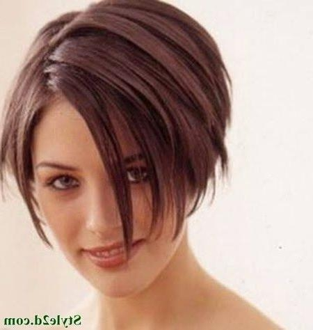 110 Best Inspirace Účesy Images On Pinterest | Hairstyles, Short Throughout Short Haircuts For Thick Straight Hair (View 3 of 20)