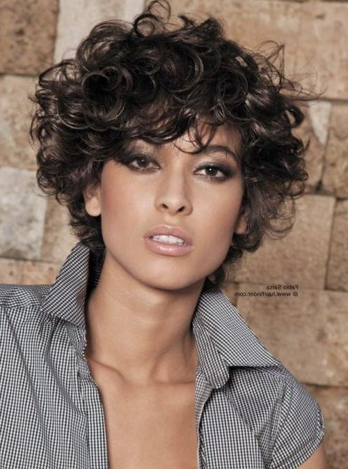 20 Best Ideas of Curly Short Hairstyles For Oval Faces