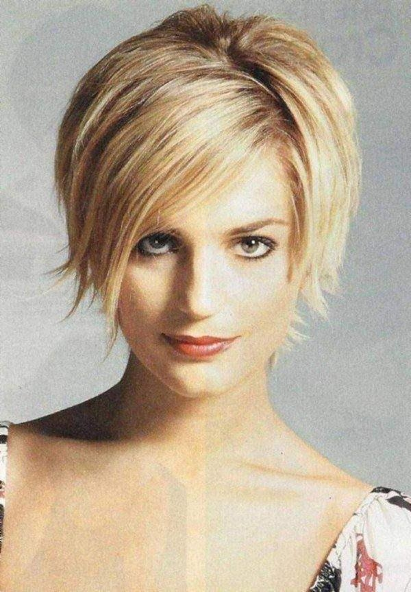 Photo Gallery Of Short Hairstyles For Round Faces And Thin Fine Hair
