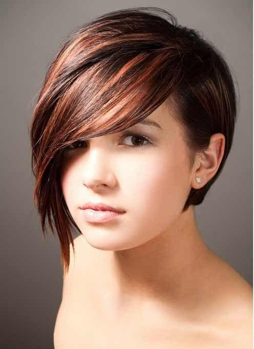 12 Fabulous Short Haircuts For Round Faces – Pretty Designs In Short Haircuts With Bangs For Round Faces (View 6 of 20)
