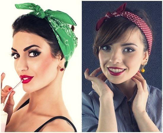 12 Glamorous Short Hairstyles Using Bandanas – Hairstylecamp With Short Hairstyles With Bandanas (View 3 of 20)