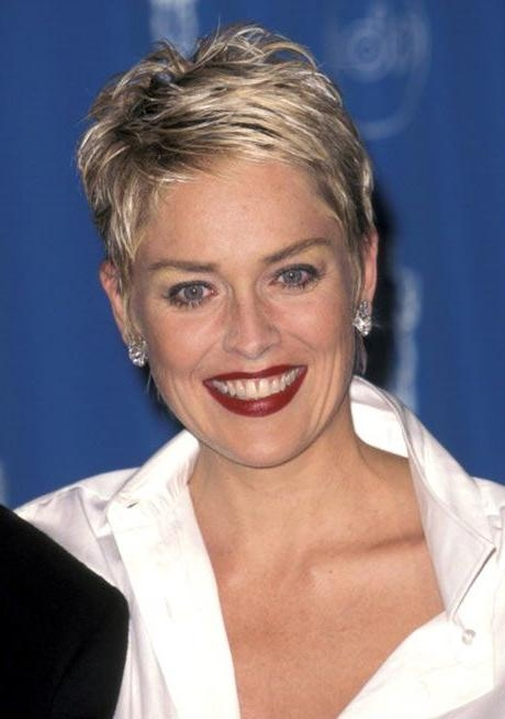 Featured Photo of Sharon Stone Short Haircuts