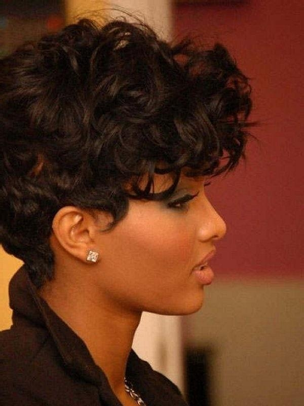 12 Pretty Short Curly Hairstyles For Black Women | Styles Weekly Intended For Curly Short Hairstyles For Black Women (View 1 of 20)