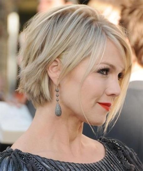 12 Short Hairstyles For Round Faces: Women Haircuts – Popular Haircuts Pertaining To Short Hairstyles With Bangs And Layers For Round Faces (View 2 of 20)