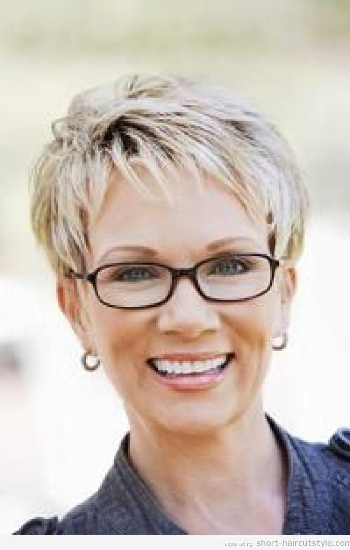 133 Best Hair Styles Images On Pinterest | Best Pixie Cuts, Boy Within Short Hairstyles For Ladies With Glasses (View 2 of 20)