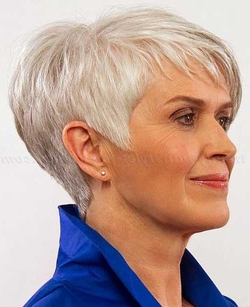 Featured Photo of Short Hairstyles For Women With Gray Hair