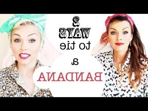 14 Tutorials For Bandana Hairstyles – Pretty Designs Inside Short Hairstyles With Bandanas (View 4 of 20)