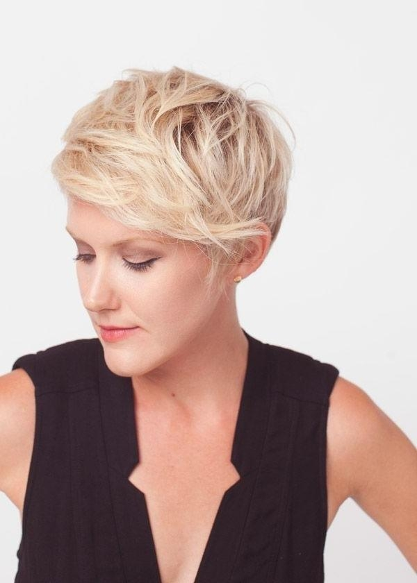 Photo Gallery Of Short Haircuts With Long Side Bangs Viewing 20 Of