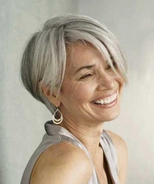 15 Hairstyles For Short Grey Hair | Short Hairstyles 2016 – 2017 For Short Haircuts For Grey Haired Woman (View 2 of 20)
