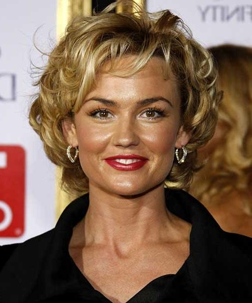 15 Popular Short Curly Hairstyles For Round Faces | Short Within Short Haircuts For Older Women With Curly Hair (View 3 of 20)
