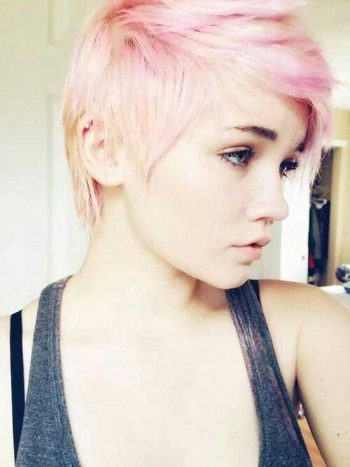15 Short Blonde And Pink Hairstyles | Short Hairstyles 2016 – 2017 With Pinks Short Haircuts (View 16 of 20)