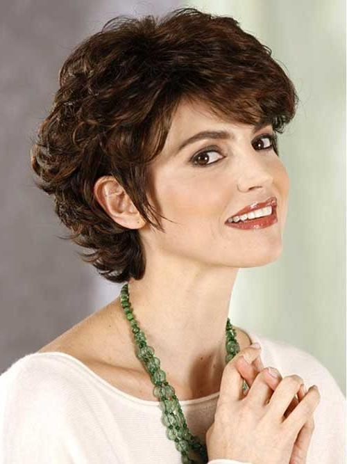 Featured Photo of Short Haircuts For Round Faces With Curly Hair