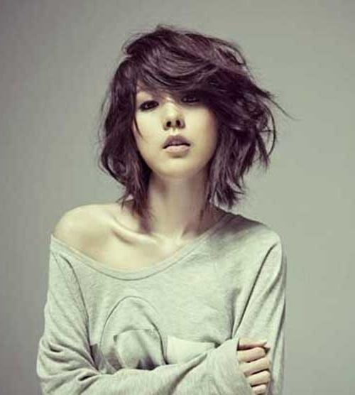 Photo Gallery of Short Hairstyles Wavy Thick Hair (Viewing 20 of ...