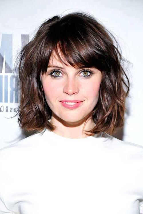 15 Short Hairstyles For Thick Wavy Hair | Short Hairstyles Within Short Haircuts With Fringe Bangs (View 3 of 20)