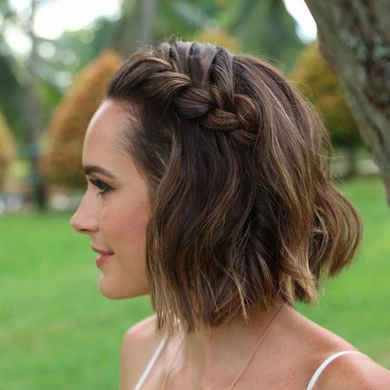 16 Beautiful Boho Wedding Hairstyles | Crown Braids, Fishtail And With Regard To Bohemian Short Hairstyles (View 3 of 20)