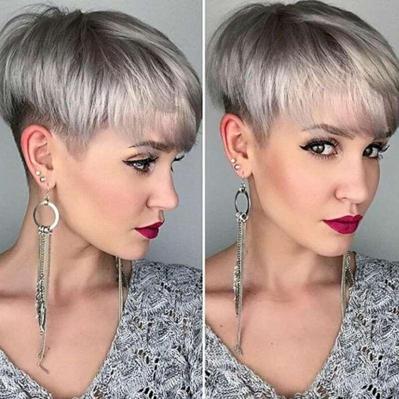 16 Gray Short Hairstyles And Haircuts For Women 2017 Intended For Gray Short Hairstyles (View 12 of 20)