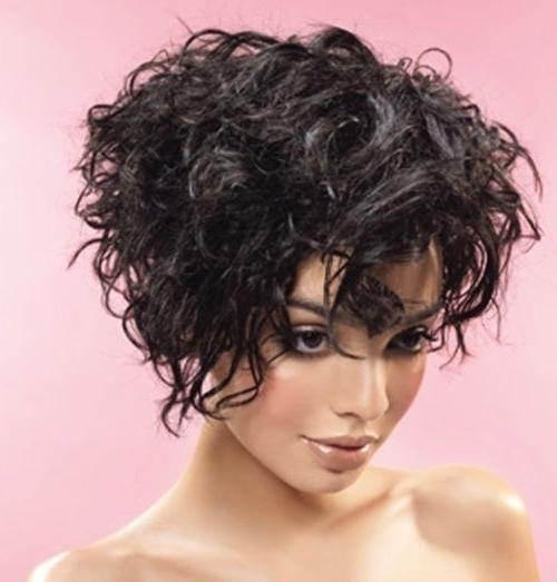 16 Short Hairstyles For Thick Curly Hair – Crazyforus With Regard To Thick Curly Short Haircuts (View 6 of 20)