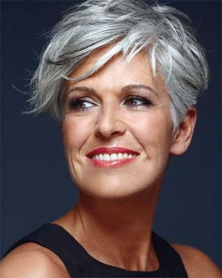 164 Best Silver Hair Ideas Images On Pinterest | Hairstyles, Make Regarding Short Haircuts For Gray Hair (Gallery 16 of 20)