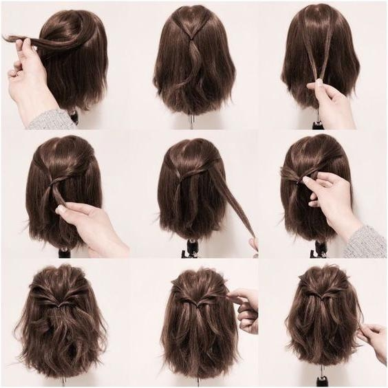 18 Half Up Hairstyles For Short And Medium Length Hair To Try Now With Regard To Half Up Half Down Short Hairstyles (View 3 of 20)