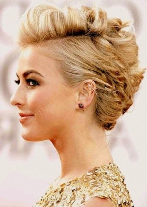 18 Pretty Updos For Short Hair: Clever Tricks With A Handful Of Throughout Updo Short Hairstyles (View 2 of 20)