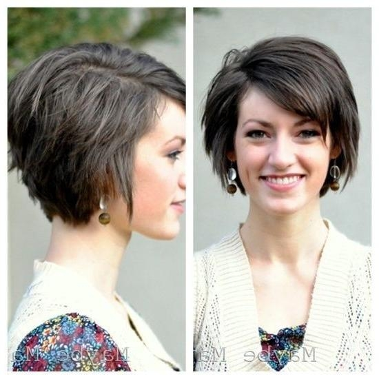 18 Short Hairstyles For Winter: Most Flattering Haircuts – Popular Inside Short Hairstyles For An Oval Face (View 2 of 20)