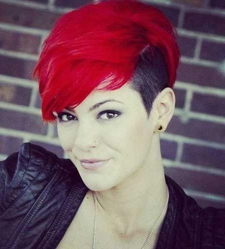 18 Short Red Haircuts: Short Hair For Summer&winter – Popular Haircuts Regarding Short Haircuts With Red Color (View 17 of 20)