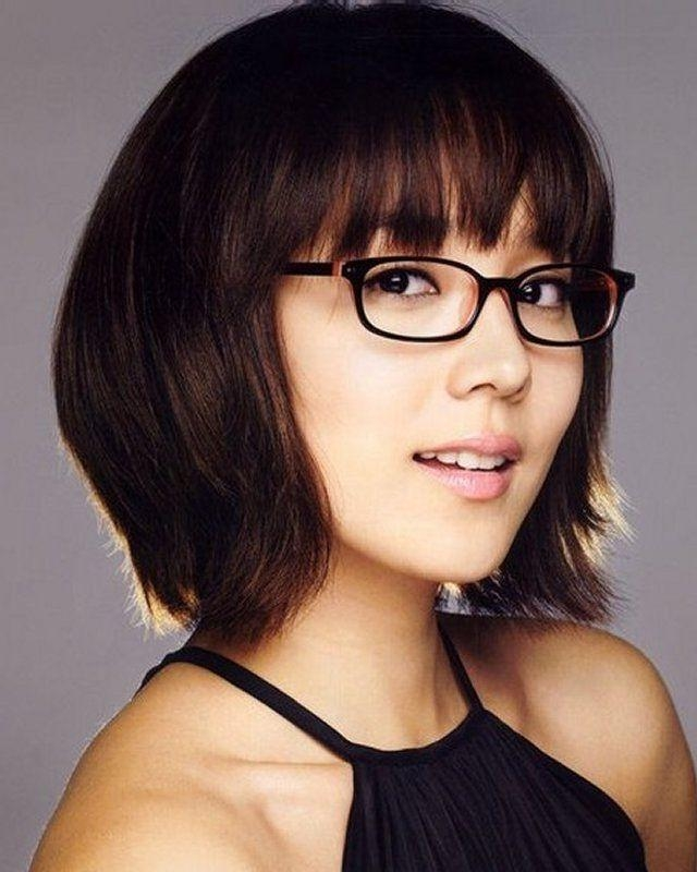 192 Best Short Hair & Glasses Images On Pinterest | Colors Regarding Short Haircuts With Bangs And Glasses (View 6 of 20)