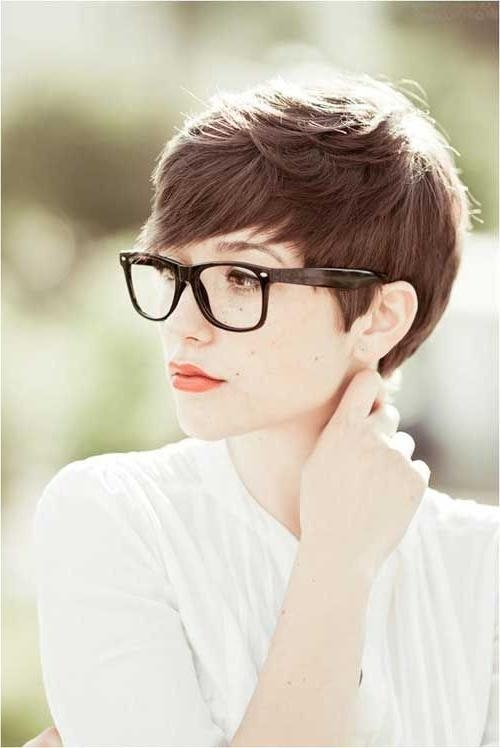 192 Best Short Hair & Glasses Images On Pinterest | Colors Throughout Short Haircuts For Girls With Glasses (View 8 of 20)