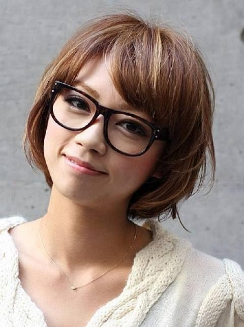 192 Best Short Hair & Glasses Images On Pinterest | Colors Throughout Short Haircuts With Bangs And Glasses (View 3 of 20)