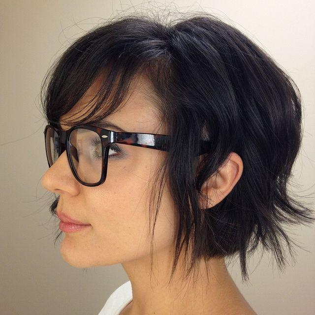 192 Best Short Hair & Glasses Images On Pinterest | Colors With Short Haircuts With Bangs And Glasses (View 4 of 20)
