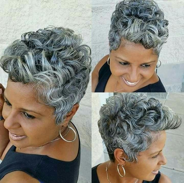 199 Best Midlife Grey Hair, Don't Care Images On Pinterest Pertaining To Short Hairstyles For Black Women With Gray Hair (View 1 of 20)
