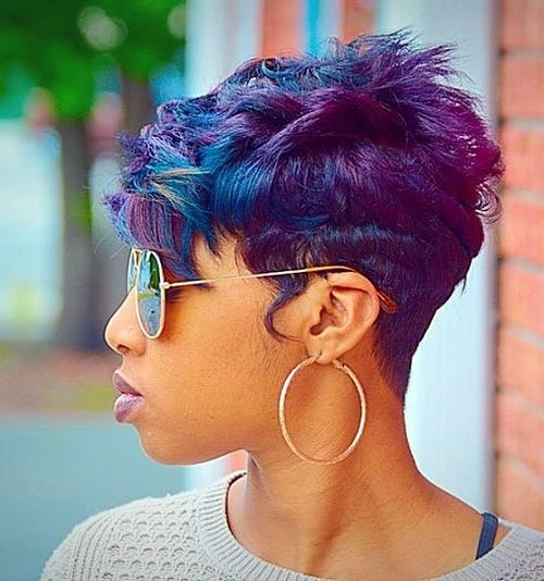 20 Amazing Short Hairstyles For 2018 – Popular Short Hairstyles In Purple And Black Short Hairstyles (View 2 of 20)