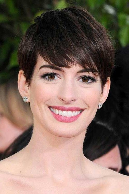 20 Best Anne Hathaway Pixie Cuts | Short Hairstyles 2016 – 2017 Inside Anne Hathaway Short Haircuts (View 13 of 20)