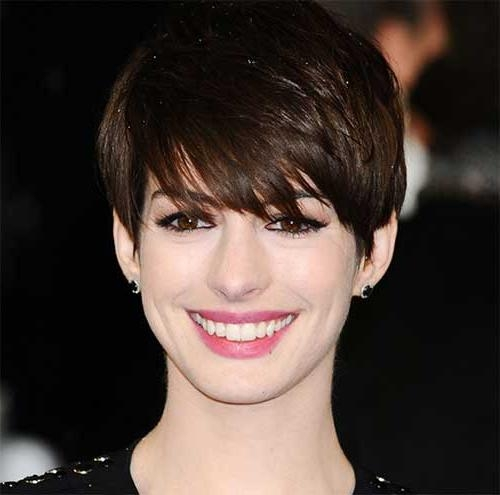 20 Best Anne Hathaway Pixie Cuts | Short Hairstyles 2016 – 2017 Inside Anne Hathaway Short Haircuts (View 9 of 20)