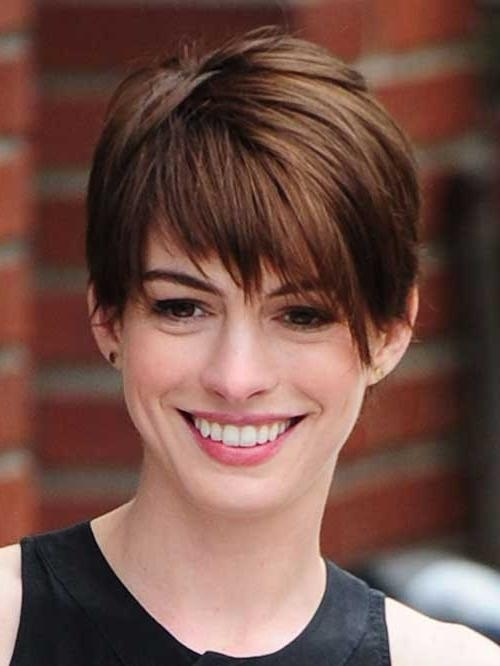 20 Best Anne Hathaway Pixie Cuts | Short Hairstyles 2016 – 2017 Intended For Anne Hathaway Short Hairstyles (View 6 of 20)