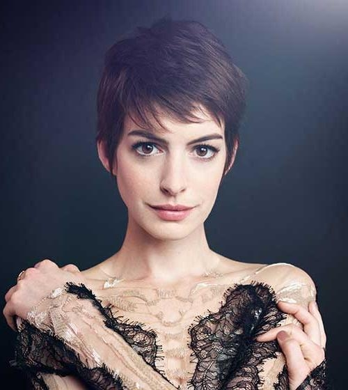 20 Best Anne Hathaway Pixie Cuts | Short Hairstyles 2016 – 2017 Regarding Anne Hathaway Short Haircuts (View 18 of 20)