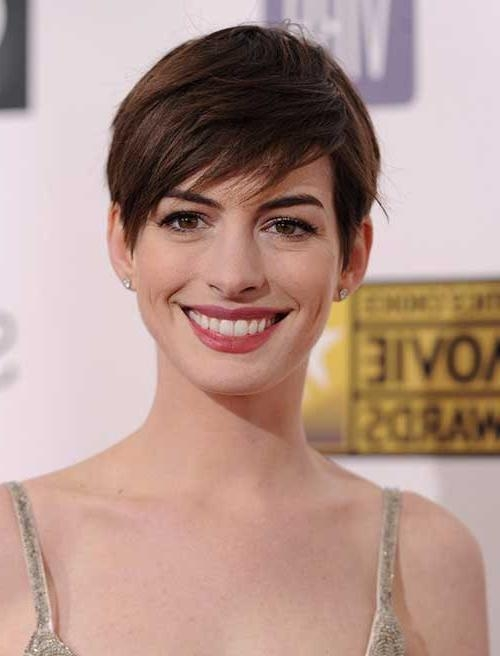 20 Best Anne Hathaway Pixie Cuts | Short Hairstyles 2016 – 2017 Regarding Anne Hathaway Short Hairstyles (View 8 of 20)