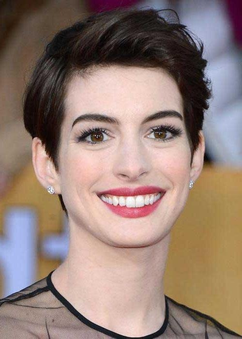 20 Best Anne Hathaway Pixie Cuts | Short Hairstyles 2016 – 2017 Throughout Anne Hathaway Short Haircuts (View 12 of 20)