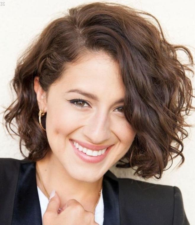 20 Feminine Short Hairstyles For Wavy Hair: Easy Everyday Hair In Curly Hair Short Hairstyles (View 14 of 20)