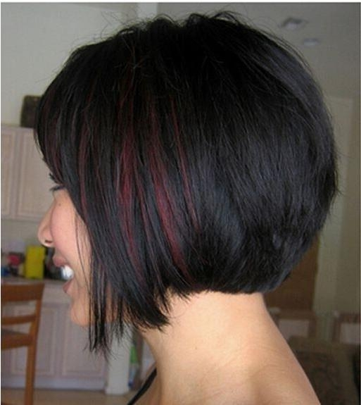 Photo Gallery Of Short Hairstyles With Red Highlights Viewing 17 Of