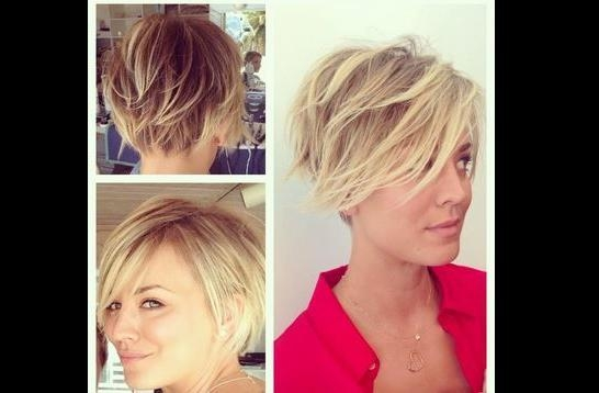 20 Layered Short Hairstyles For Women | Kaley Cuoco, Big Bang Regarding Short Hairstyles With Big Bangs (View 4 of 20)