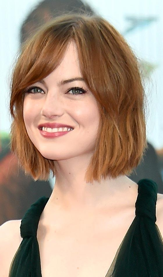 20 Most Flattering Hairstyles For Round Faces Regarding Rebonded Short Hairstyles (View 3 of 20)