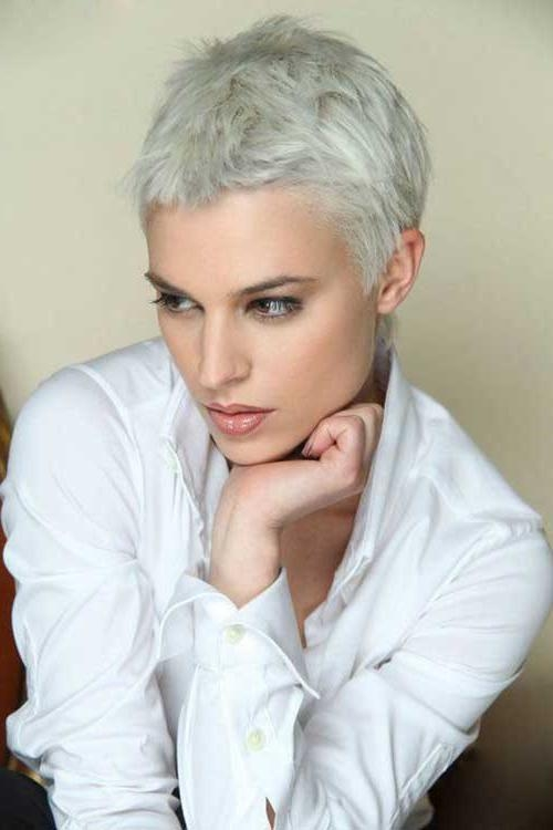 Photo Gallery Of Gray Hair Short Hairstyles Viewing 11 Of 20 Photos