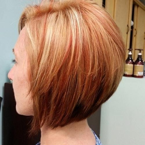 20 Sexy Stacked Haircuts For Short Hair: You Can Easily Copy For Short Haircuts With Red And Blonde Highlights (View 3 of 20)