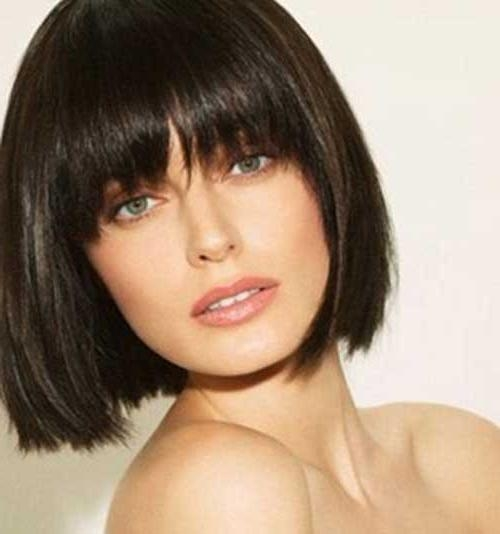 20 Short Hair With Fringe | Short Hairstyles 2016 – 2017 | Most Throughout Short Hairstyles With Bangs (View 2 of 20)