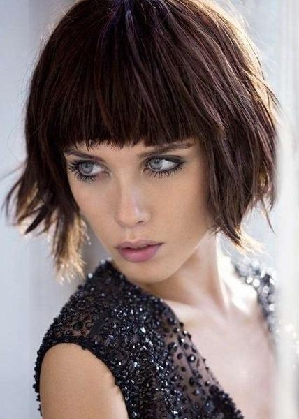 20 Short Hairstyles For Thick Hair Pertaining To Short Haircuts For Thick Hair With Bangs (View 5 of 20)