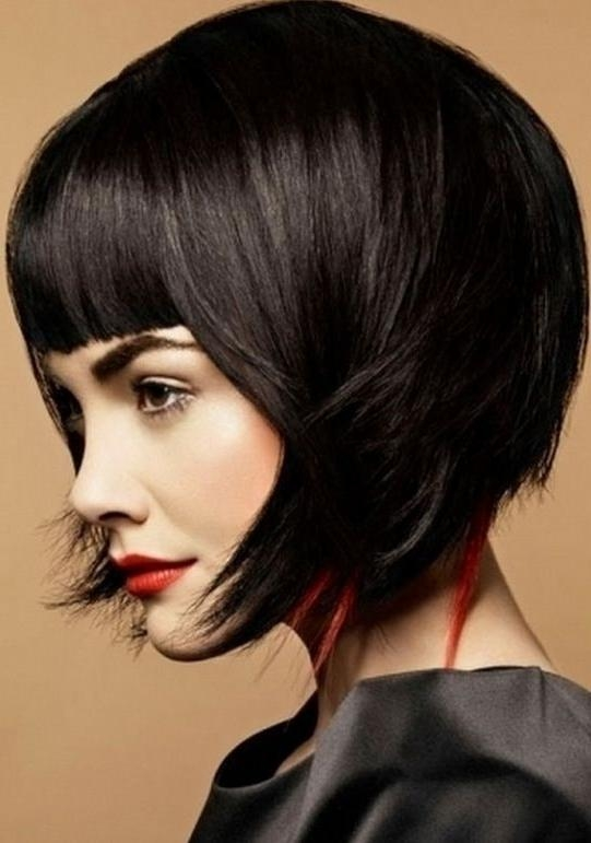 20 Trendy Fall Hairstyles For Short Hair 2017: Women Short Haircut Inside Short Hairstyles With Blunt Bangs (View 2 of 20)