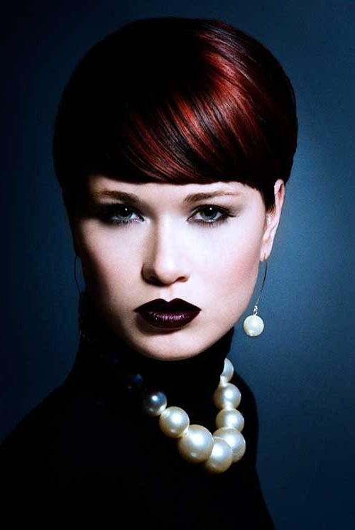 2013 Hair Color Trends For Short Hair | Short Hairstyles 2016 In Red And Black Short Hairstyles (View 13 of 20)