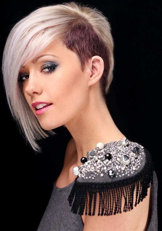 2014 Trendy Short Hairstylewith Long Side Swept Bangs – Pretty Designs For Short Haircuts With Side Swept Bangs (View 16 of 20)